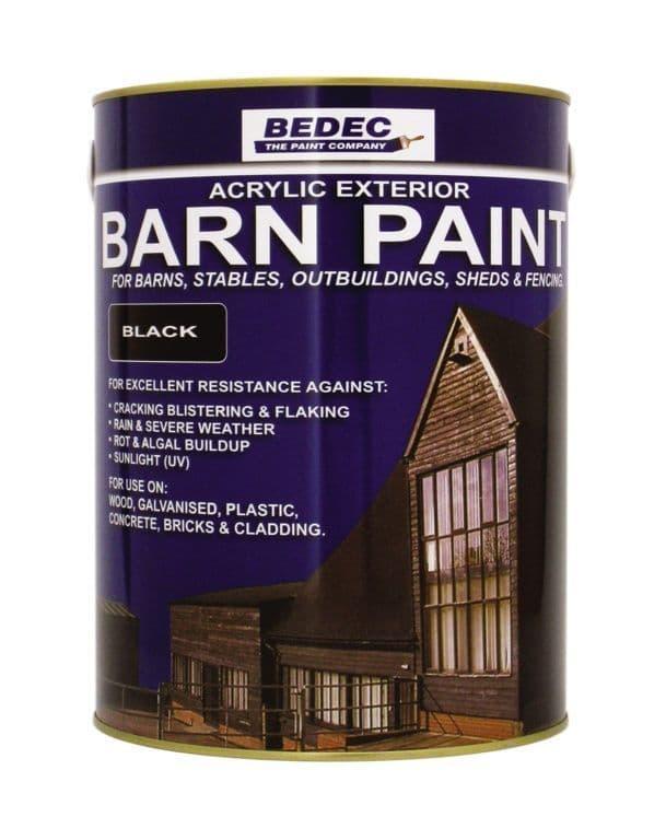 Bedec Semi Gloss Barn Paint 5L - White